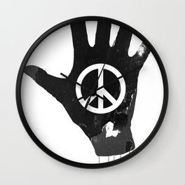 Human Touch, Peace & Love Wall Clock