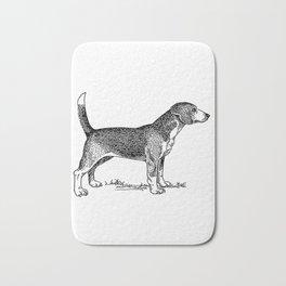 Curious Beagle Dog Bath Mat