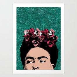 Floral Frida Art Print