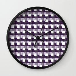 Purple Squares. Manchester Architectural Collection Wall Clock