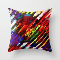 stripe Throw Pillows featuring stripe by barmalisiRTB