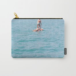 Woman on surfboard Carry-All Pouch