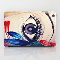 native american iPad Cases featuring native american eye by RenataV
