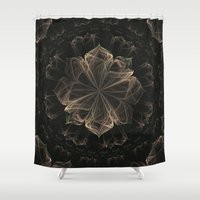 ornate Shower Curtains featuring Ornate Blossom by Charma Rose