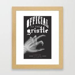 Official tothe Gristle-E Framed Art Print