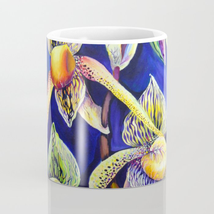 Orchid -  The Paphiopedilum , known as Lady's Slipper Coffee Mug