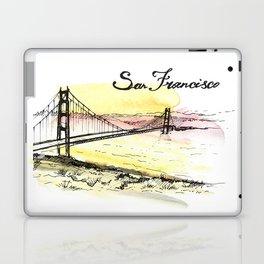 San Francisco. Watercolor and ink. Laptop & iPad Skin