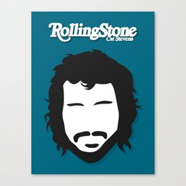 Cat Stevens (Yusuf), Minimalist Rolling Stone Magazine Cover Canvas Print