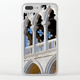 Doges Palace facade details Clear iPhone Case
