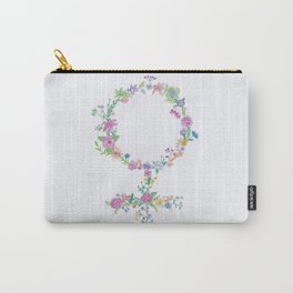 Feminist flower Carry-All Pouch