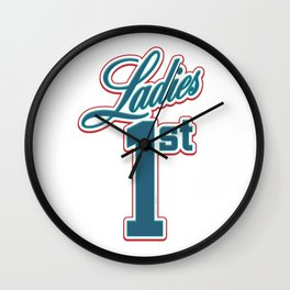 Ladies First. Equalize Wall Clock