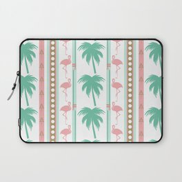 Art Deco Palm Trees and Flamingos Laptop Sleeve