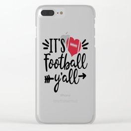Football Yall Clear iPhone Case
