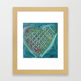 Serenity Heart Framed Art Print