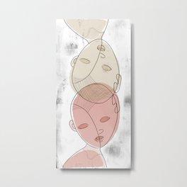 Two Heads Metal Print