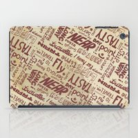 lettering iPad Cases featuring Lettering Type by Little faba