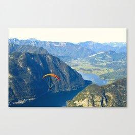 Paraglider above the Austrian Alps 2 Canvas Print