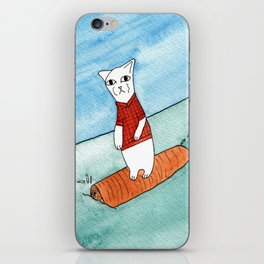 Meow the cat- Sometimes you gotta roll with it iPhone Skin