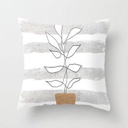 Scandi Plant Throw Pillow