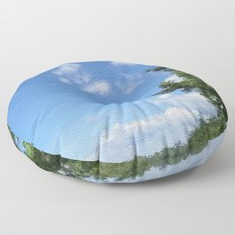 Spring Blue Sky Floor Pillow