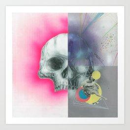 fourartist'sskull Art Print