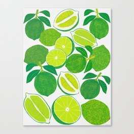 Lime Harvest Canvas Print