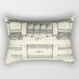 Railway Car-1892 Rectangular Pillow
