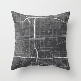 San Bernardino Map, USA - Gray Throw Pillow