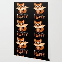 Foxes Make Me Happy Wallpaper