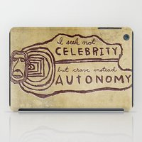 celebrity iPad Cases featuring Celebrity & Autonomy by Josh LaFayette