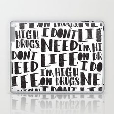 HIGH ON DRUGS Laptop & iPad Skin