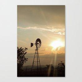 Windpump at dawn Canvas Print