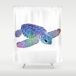Colorful Sea Turtle I Shower Curtain