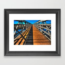 Beach Bridge Framed Art Print