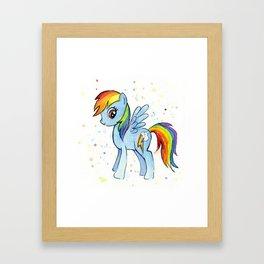 Rainbow Pony Framed Art Print