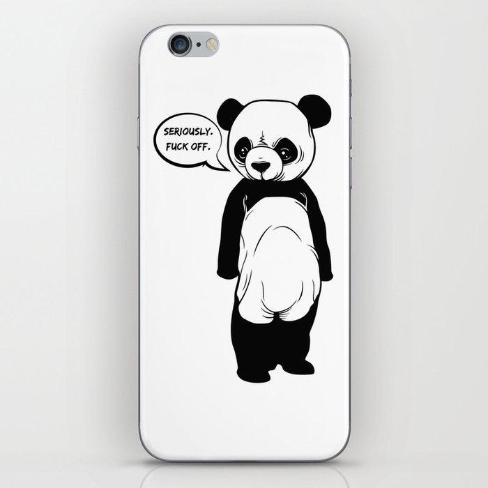 Angry Panda iPhone Skin