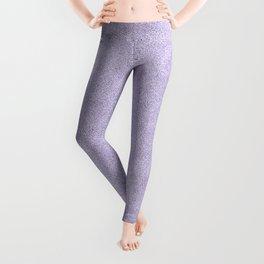 Nappy Faux Velvet in Pale Lilac Leggings