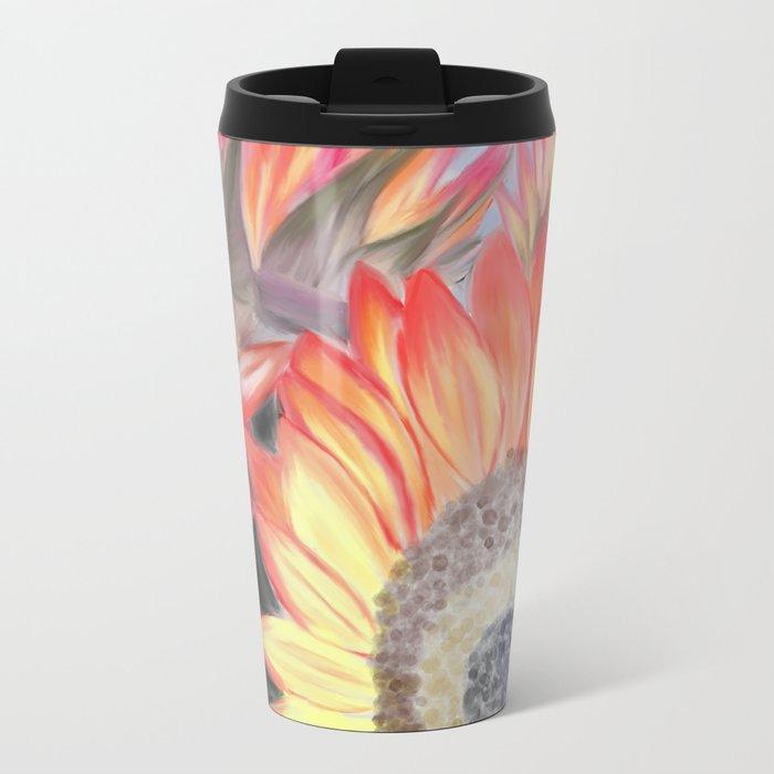 Fall Sunflowers Metal Travel Mug