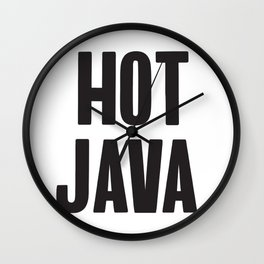 The computer screen is hot java! Wall Clock