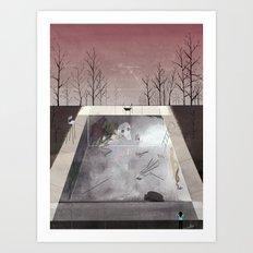 Empty Pool Art Print
