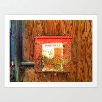 Old Barn Electrical Box Art Print