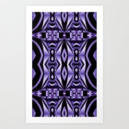 Stained Glass Collection V Lilac Levitations Art Print