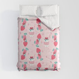 Strawberry poison milk 1 Comforters