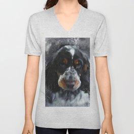 Cocker Spaniel dog #dog #spaniel Unisex V-Neck