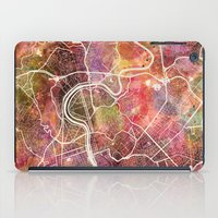 rome iPad Cases featuring Rome by MapMapMaps.Watercolors