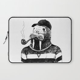 Walrus with a Pipe Laptop Sleeve