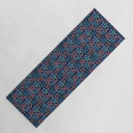 Japanese Washi Design in Blue Yoga Mat