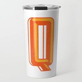 Letter Q Travel Mug
