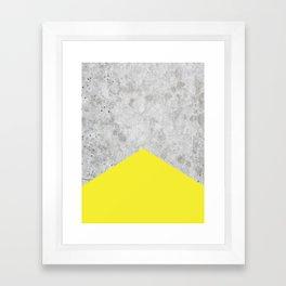 Concrete Arrow - Yellow #193 Framed Art Print