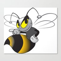 bee Canvas Prints featuring Bee by mangulica illustrations